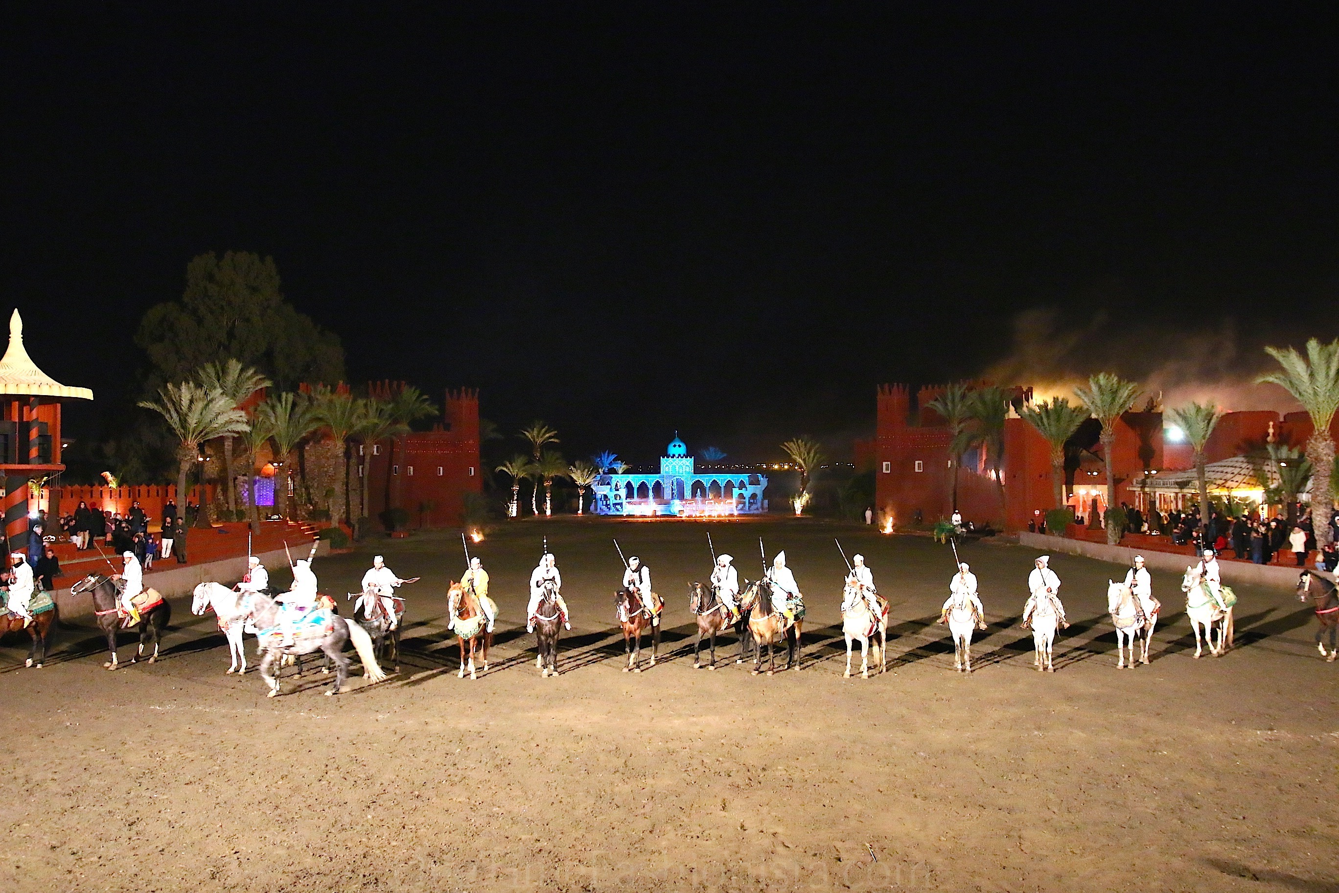 Half Day Fantasia Chez Ali Dinner & Show From Marrakech